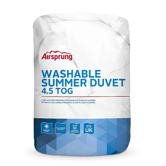 Double Airsprung 4.5 Tog Summer Duvet - save £1