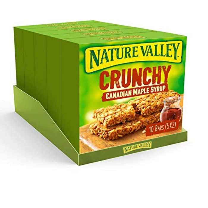 CHEAP! Nature Valley Crunchy Canadian Maple Syrup Cereal Bars 42g - Pack of 50