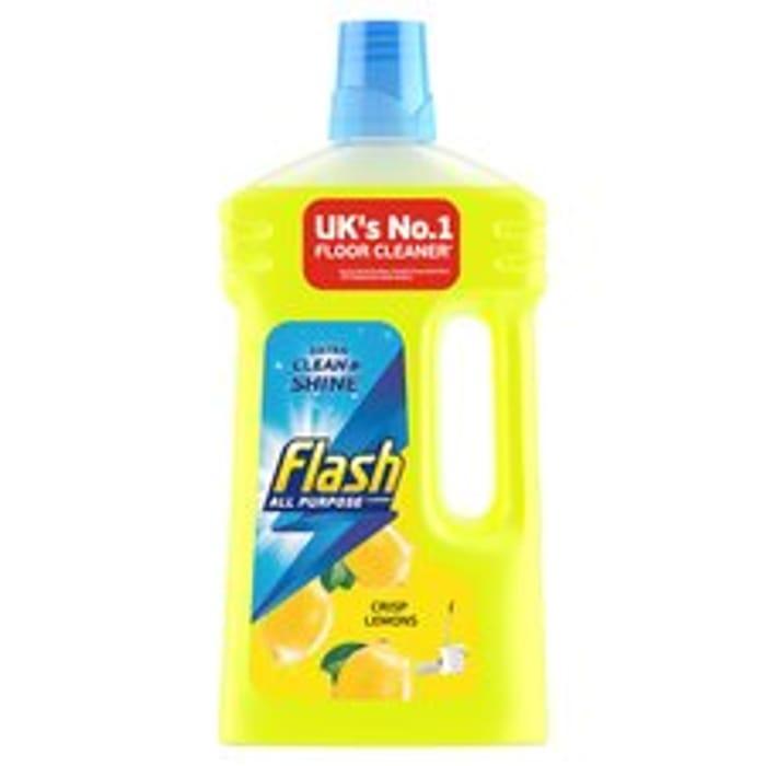 Flash All Purpose Liquid Cleaner Crisp Lemons 1lt Bottle