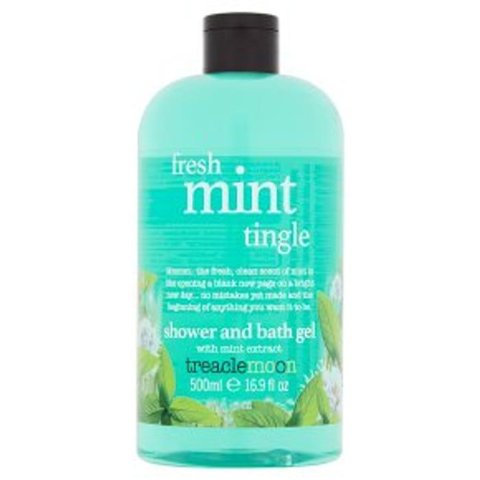 Cheap Treaclemoon Fresh Mint Tingle 500ml Shower & Bath Gel Only £1.5!