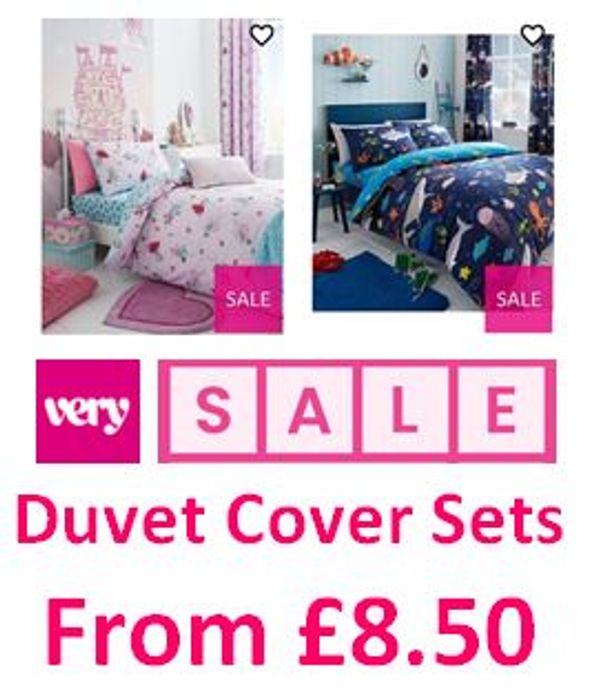 Duvet Cover Sets - from £8.50 in the VERY SALE