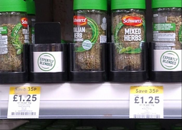 Schwartz Herbs (Various) Instore at Tesco