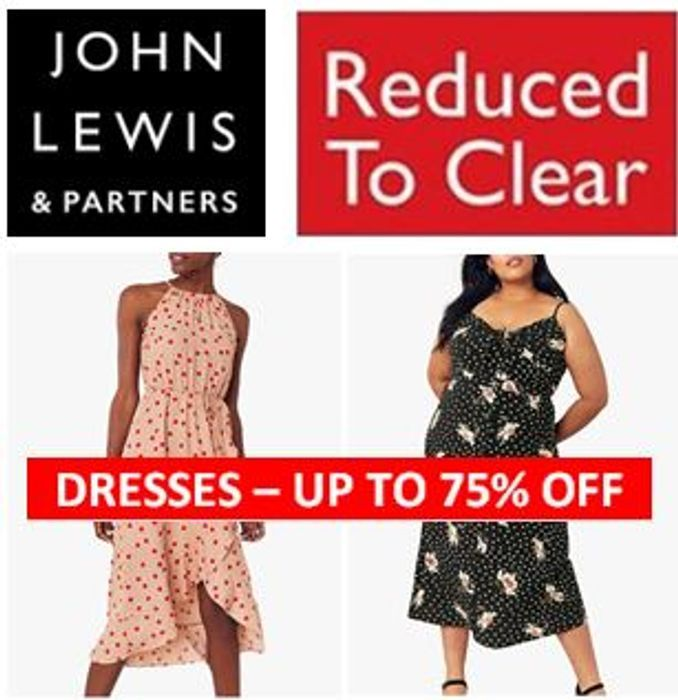 4,700 DRESSES Reduced to Clear - up to 75% off at JOHN LEWIS