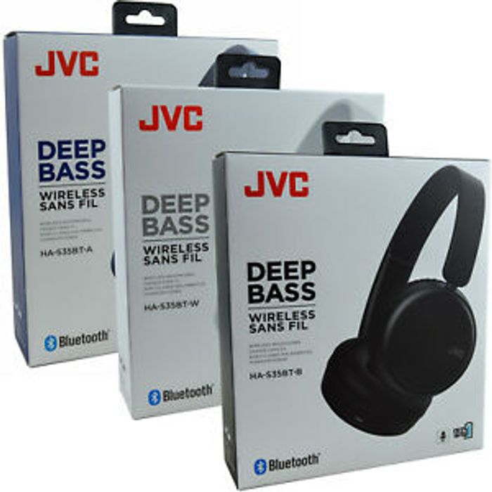 Best Price! JVC-S35BT Over-Ear Bluetooth Wireless Dynamic Deep Bass Headphones