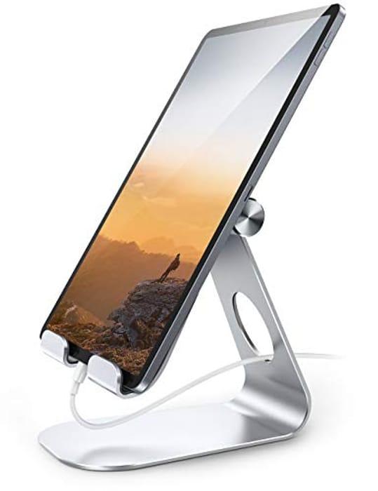 Lamicall Tablet Stand, Adjustable Tablet Holder - Silver