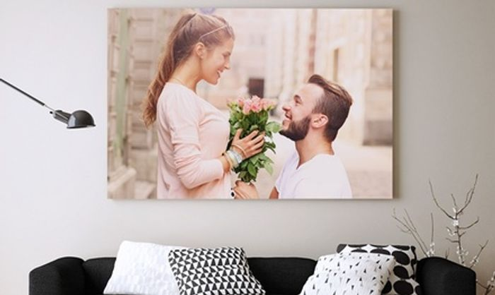 Personalised Canvas in Choice of Sizes from Photo Gifts (Up to 88% Off)