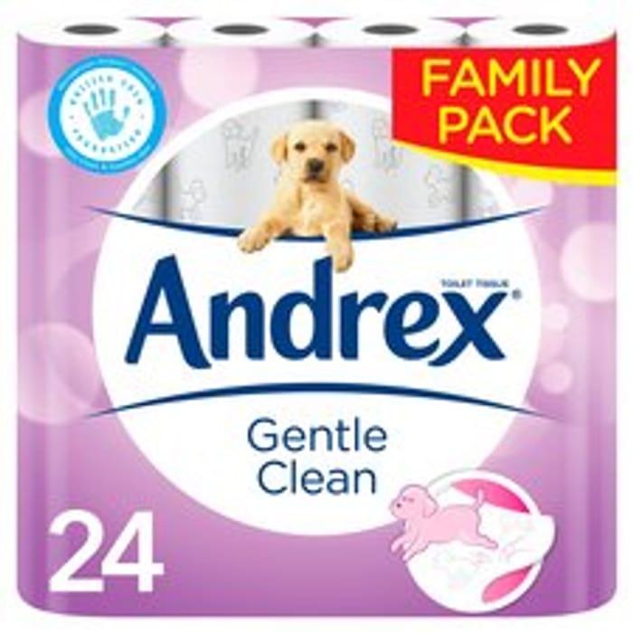 Andrex Toilet Tissue Gentle Clean 24 Roll
