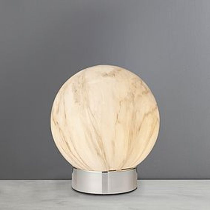 *HALF PRICE* Finn Marble White Table Lamp