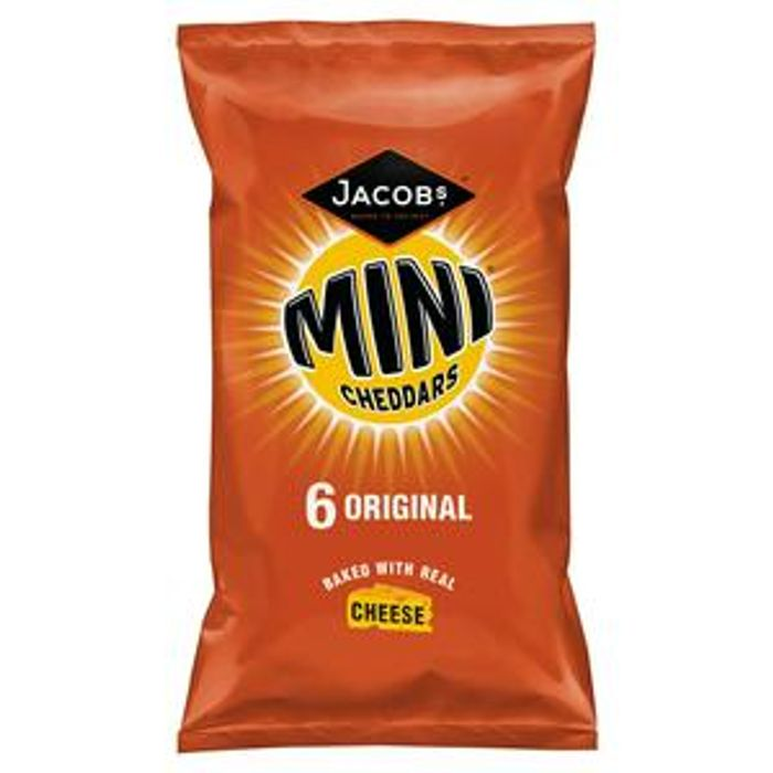Jacob's Mini Cheddars Original Crisps 6x25g