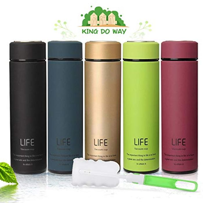 KING DO WAY Insulated Stainless Steel Vacuum Bottle Double-Walled Flasks 500ml