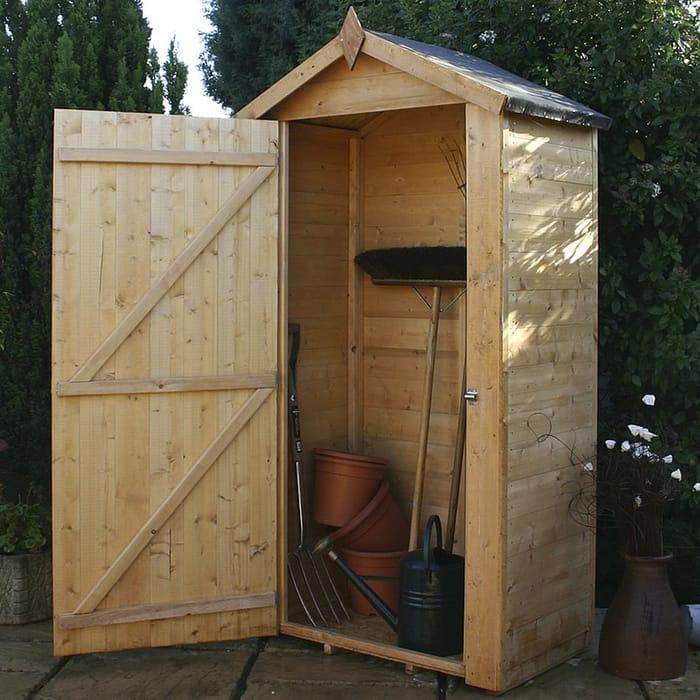 Waltons 4 X 2 Shiplap Single Door Apex Wooden Garden Storage