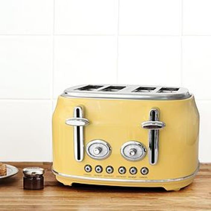 Retro Yellow 4 Slice Toaster Click & Collect