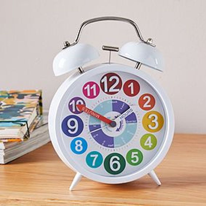 Tell the Time 18cm Alarm Clock Multi