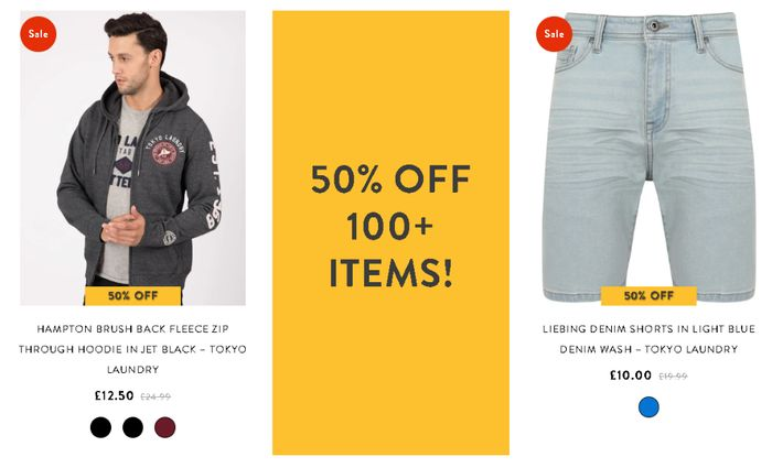 Special Offer - Tokyo Laundry - 50% Off 100+ Items + Extra 10% Code