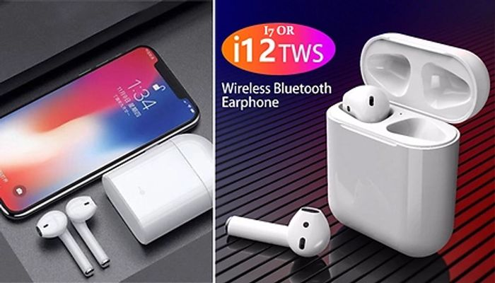 Apple Compatible I7 or I12 Wireless Earbuds with Charging Case
