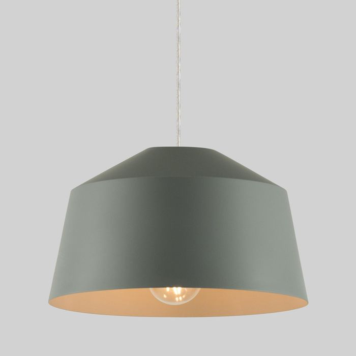 Debenhams - Grey 'Ailo' Easyfit Pendant Ceiling Light also available in pink