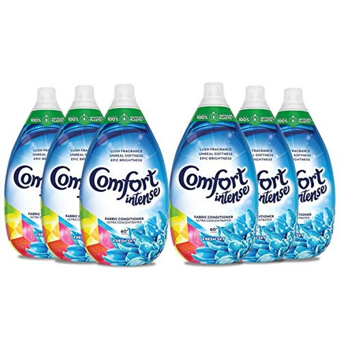 Comfort Ultra Concentrated Intense Fabric Conditioner & Softener Liquid, 6 Pack