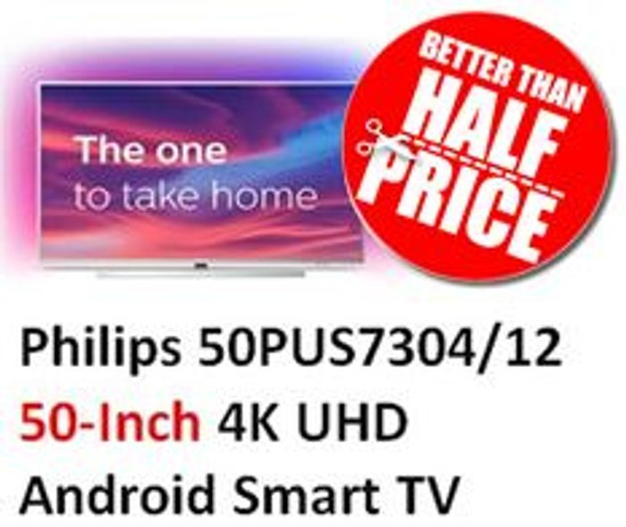 Philips 50-Inch 4K UHD Android Smart TV W/ Ambilight & HDR 10+, Works with Alexa
