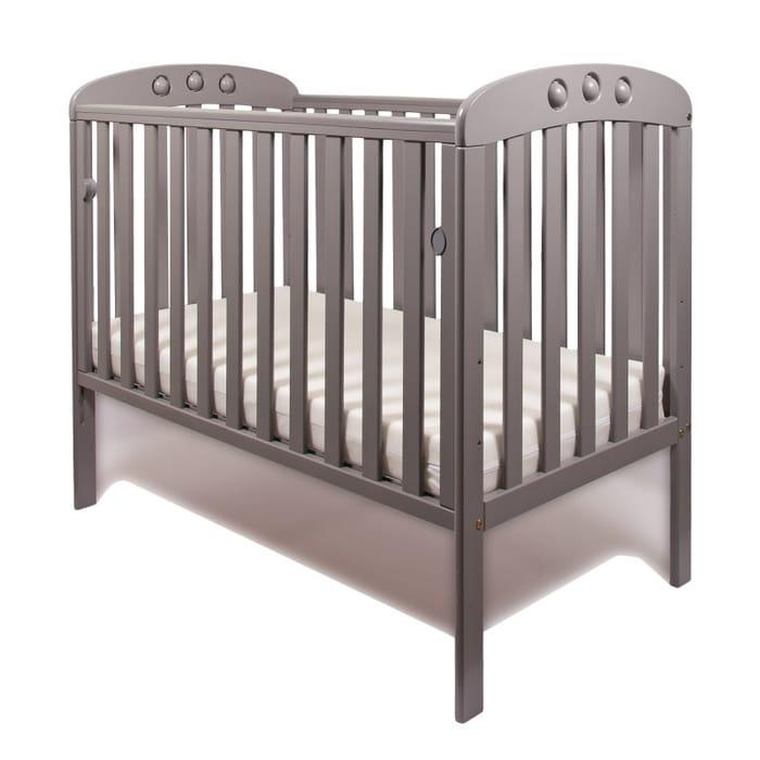 Cheap Little Babes Abbi Dropside Cot-Grey Only £139