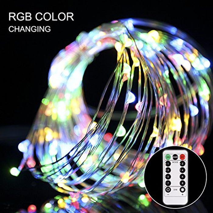 Save 70%- GreenClick Copper Wire Fairy String Lights 100 LEDs 10.5 M