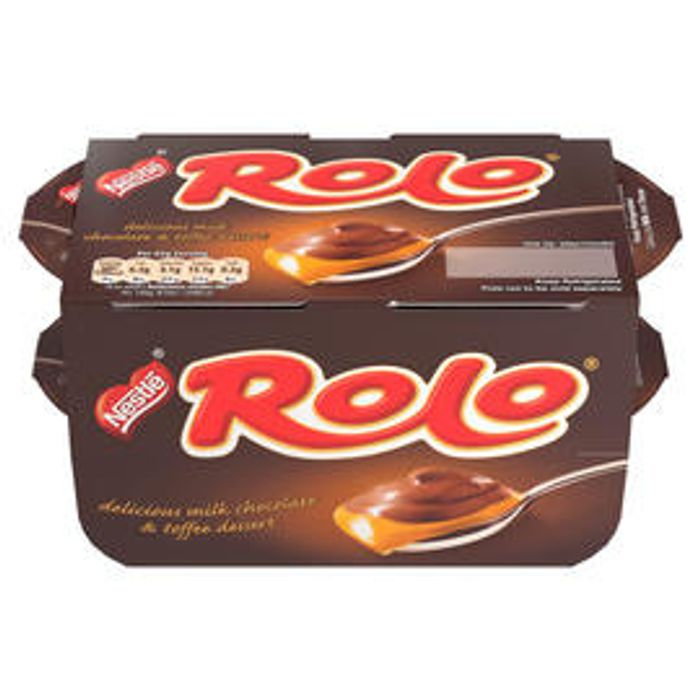 Nestl Rolo Dessert Milk Chocolate and Toffee Pot 65g Pack of 4 at Iceland