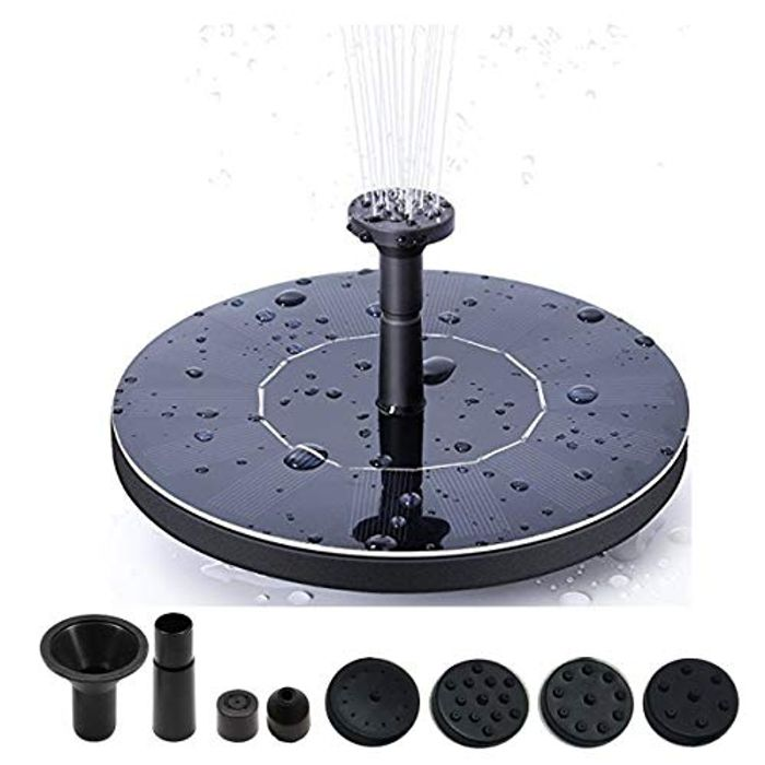 Solar Water Fountain down to £7.96