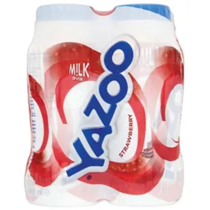 Yazoo Strawberry & Also The Chocolate Milk Drink 4 Pack *Only £1 Each