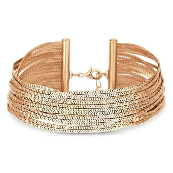 Lipsy Gold Colour Slinky Bracelet
