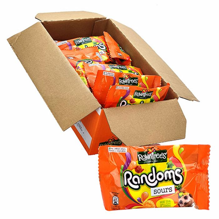 32 X Rowntrees Randoms Sours 43g Impulse Bags