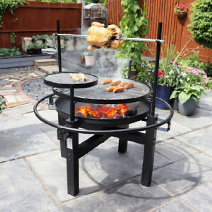 Rotisserie Outdoor Bbq Grill Skewer Warming Plate Outdoor Cooking