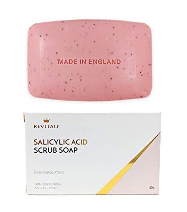 Salicylic Acid Scrub Soap, Pore Exfoliating, Softening Skin, Anti-Blemish