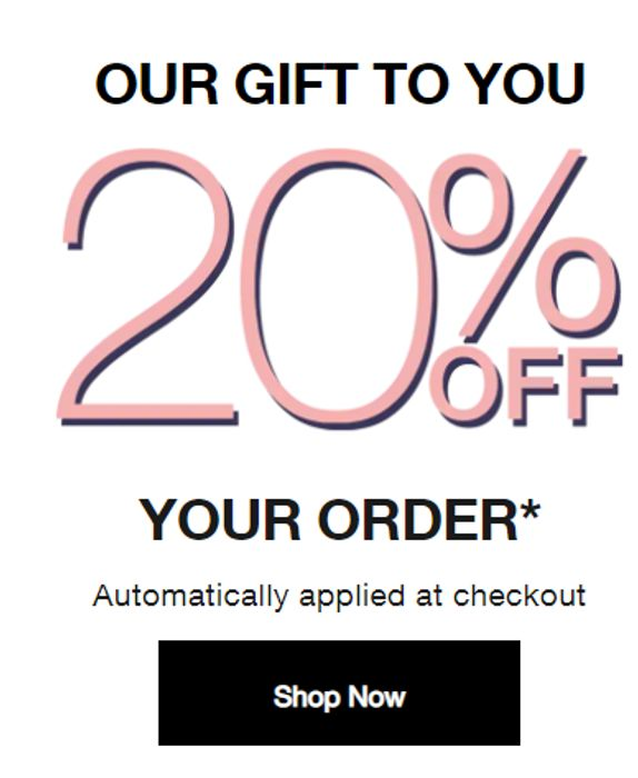 Clinique 20% Off + Free Delivery