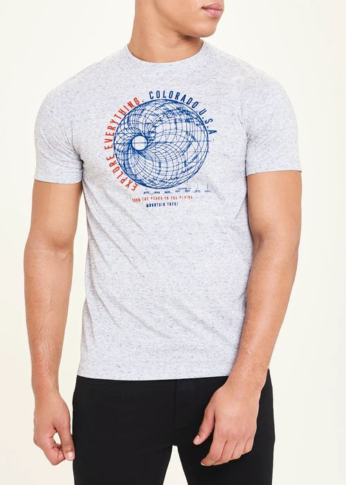 Globe Print T-Shirt