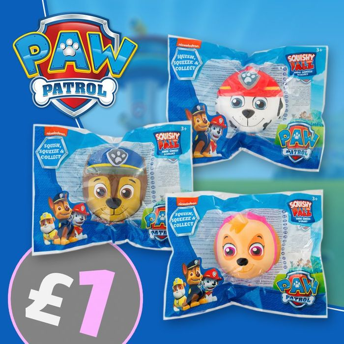 Paw Patrol Squishy Pals (2.99 Post for Unlimited Items) - Only £1!