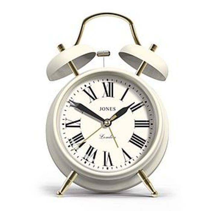 *SAVE 20%* Jones Alarm Clock White at Dunelm