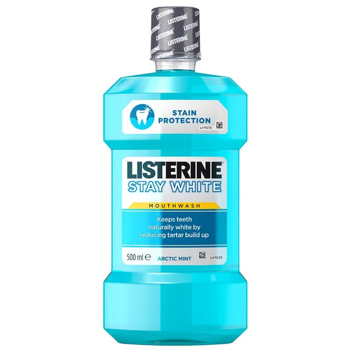 Listerine Stay White Mouthwash 500ml - Arctic Mint