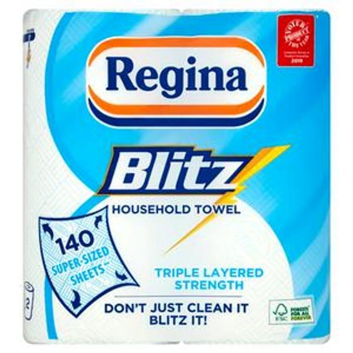 Regina Blitz Kitchen Towel X2 Rolls - Only £2.5!