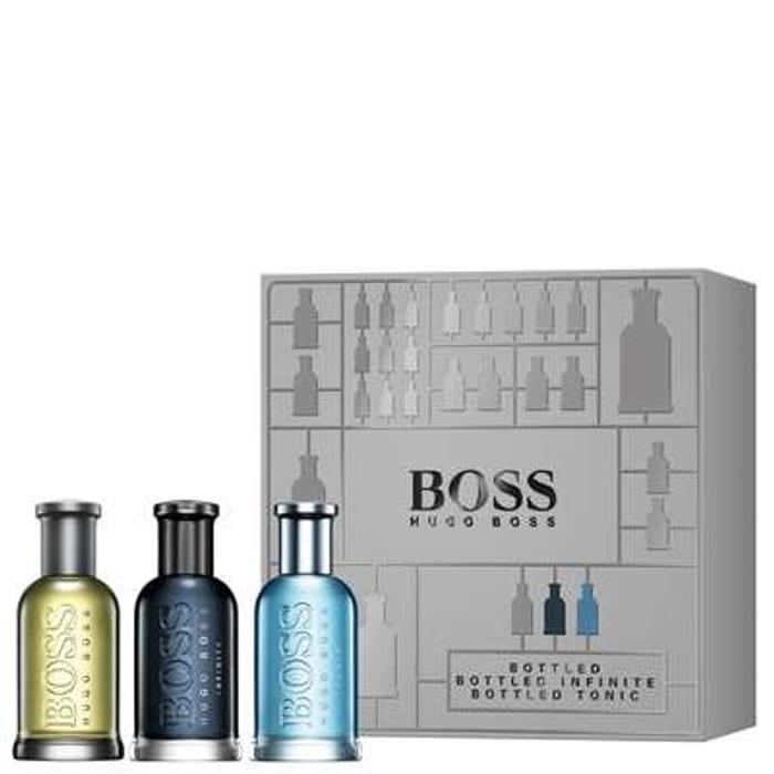 Special Offer - HUGO BOSS BOSS Bottled Eau De Toilette Spray 30ml Trio Gift Set
