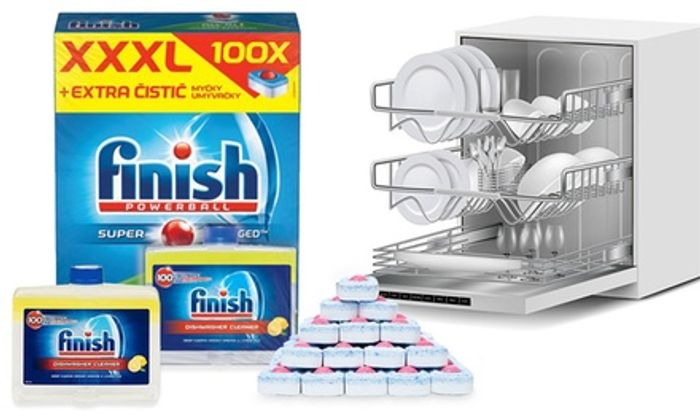 Finish 250ml Dishwasher Cleaner and All-in-One Deep Clean 100