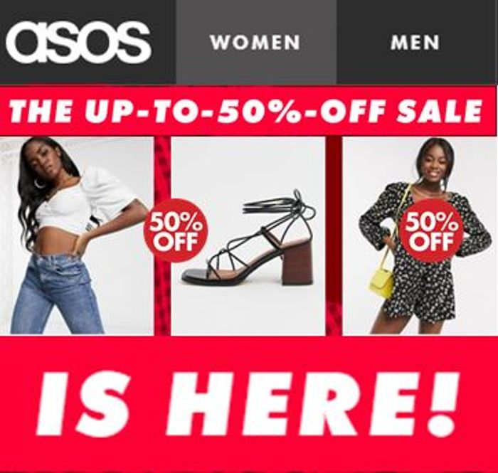ASOS 50% off SALE - on Now