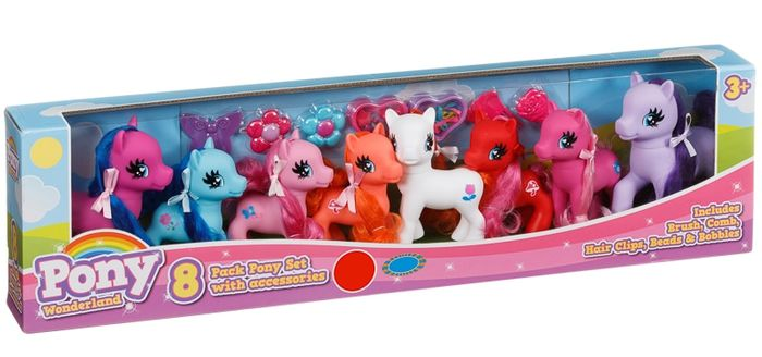 Pony Wonderland Pony Set 8pk