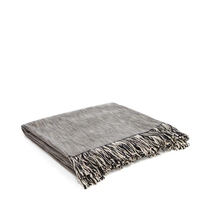 Debenhams - Grey Textured Weave Throw Low in Stock