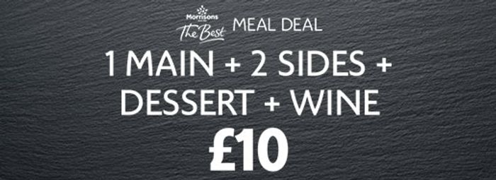 Buy 1 Main, 2 Sides and 1 Wine for £10