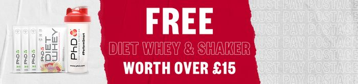 Free Diet Whey & Shaker Pack - £3.99 P&P at PhD Nutrition