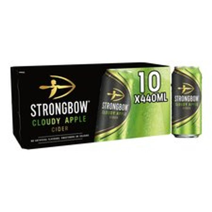 Strongbow Cloudy Apple Cider 10 X 440Ml