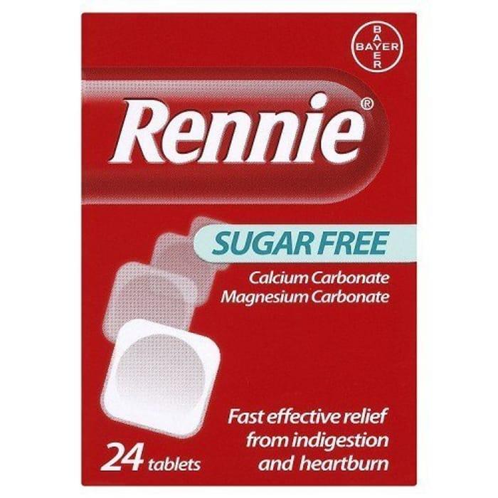 Rennie Sugar Free 24 Tablets