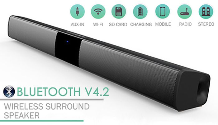 Cheap Wireless Bluetooth Surround Soundbar - 2 Designs 2 Sizes Only £26.99