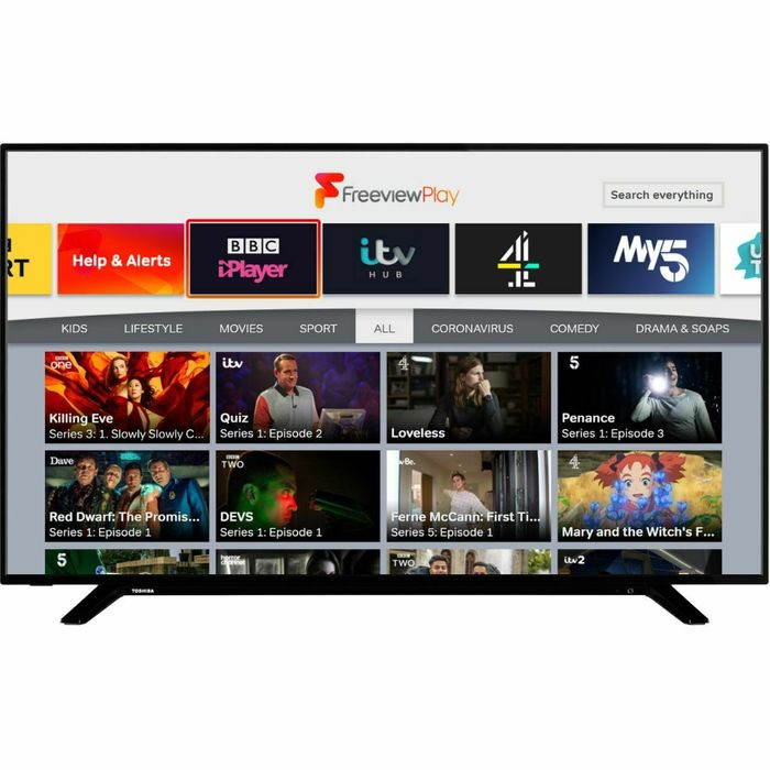 Toshiba 65 Inch TV Smart 4K Ultra HD LED Freeview HD 3 HDMI Dolby