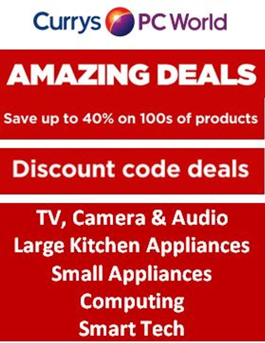 Currys AMAZING DEALS and MORE off DISCOUNT CODES