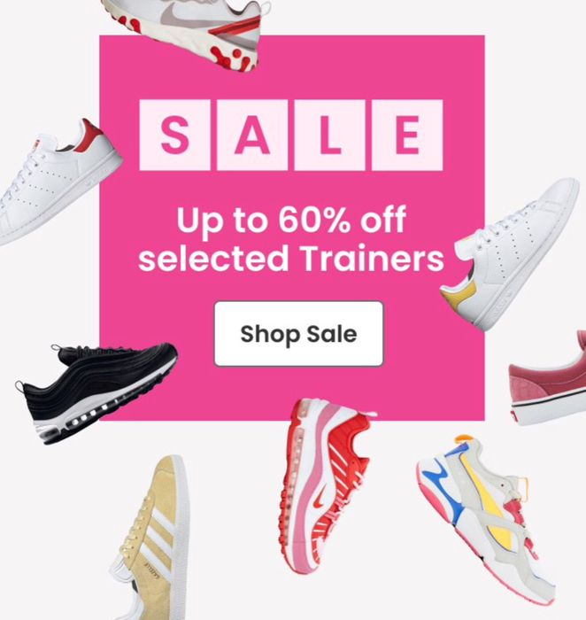 Up to 60% off Selected Trainers
